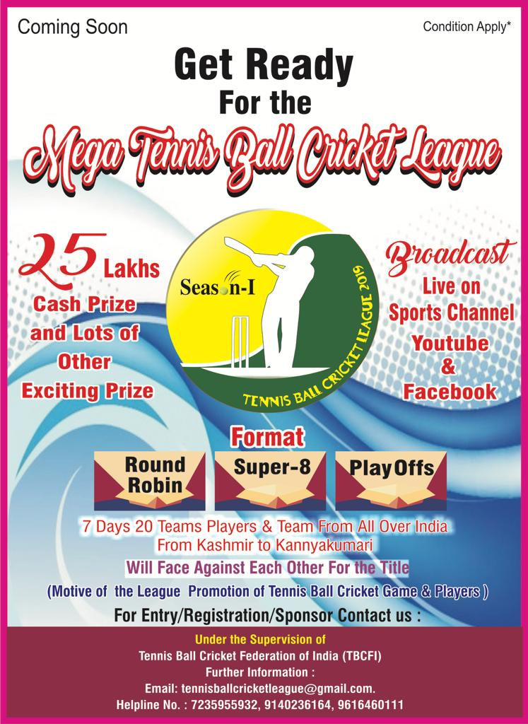 Welcome To Tennis Ball Cricket Fedration Of India